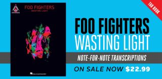 tab book get note for note transcriptions for every song from foo fighters 39 wasting light. Black Bedroom Furniture Sets. Home Design Ideas