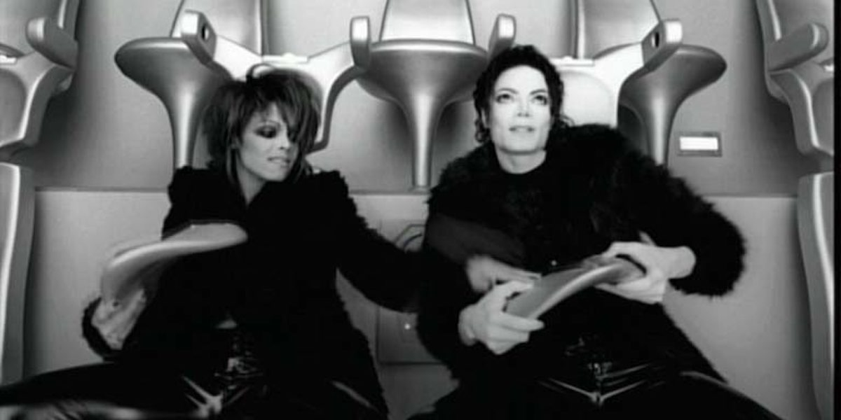 Janet Jackson and Michael Jackson in Scream music video