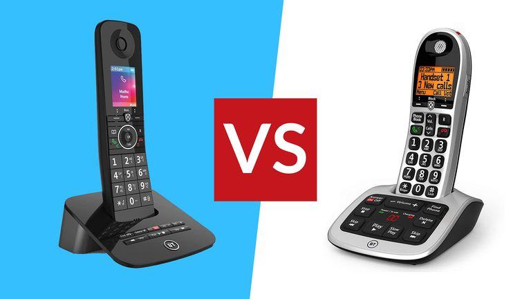 BT Premium Phone vs BT4600 Big Button Phone