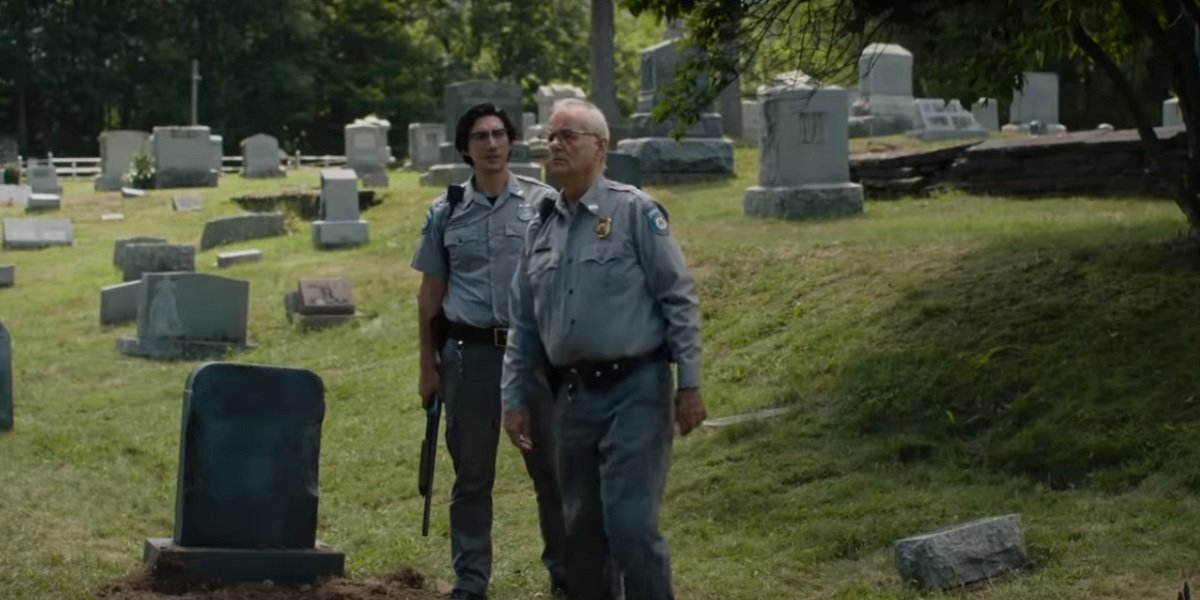 Billy Murray and Adam Driver in Dead Don't Die