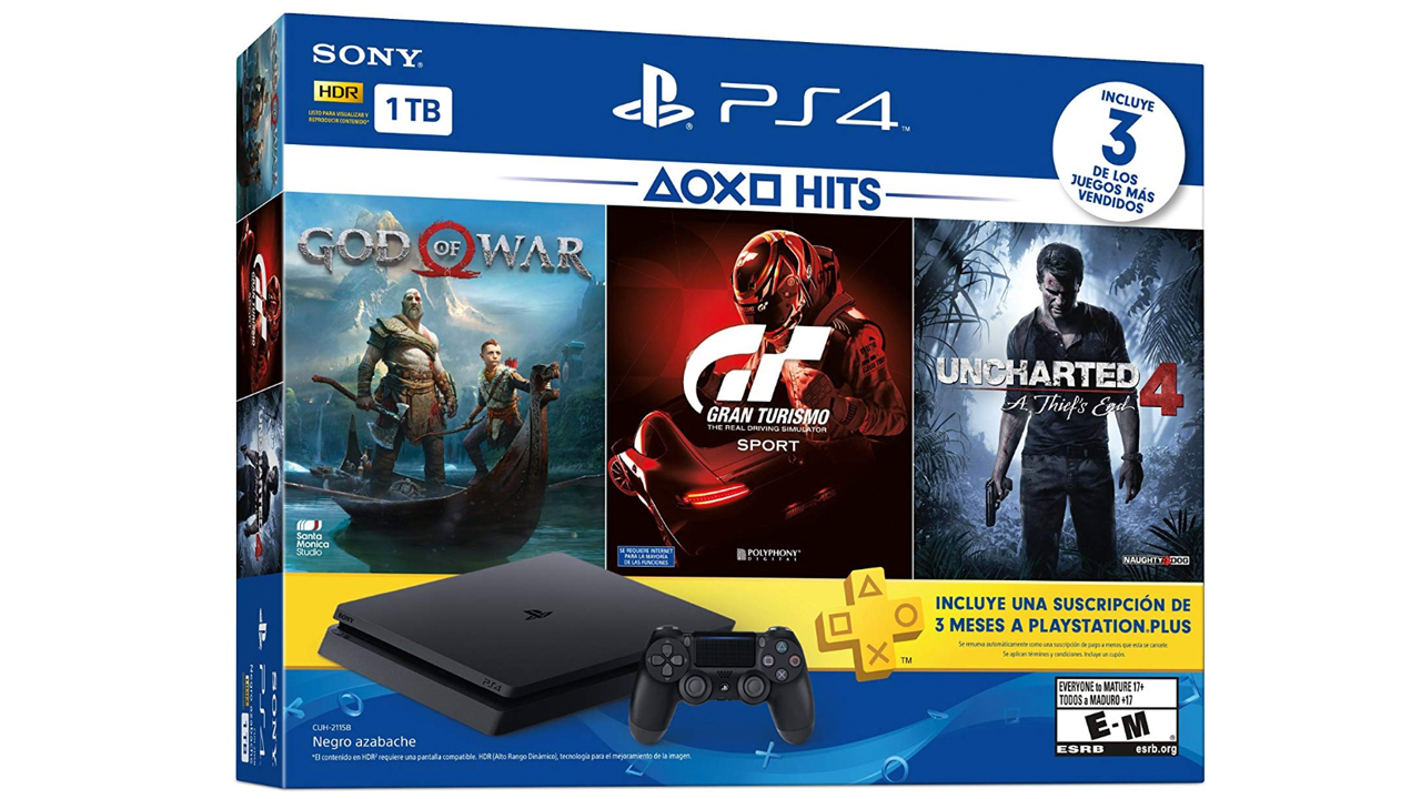 Get a PS4 Slim with God of War, GT Sport, and Uncharted 4