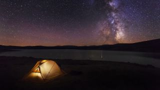 Astrophotography camping