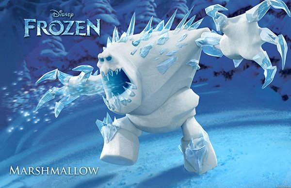 Frozen Character Poster Marshmallow