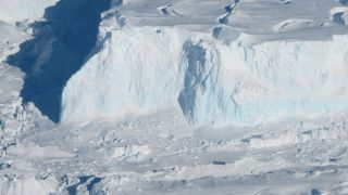 The edge of the Thwaites glacier in Antarctica