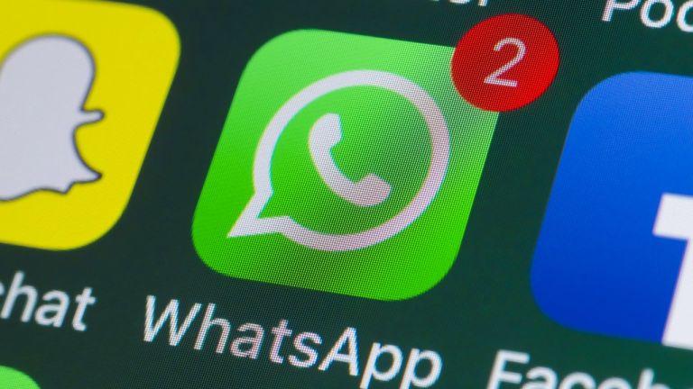 Android phone running WhatsApp