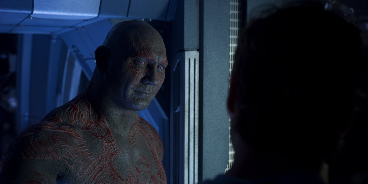 Drax (Dave Bautista) in Guardians of the Galaxy Vol. 2