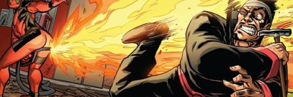 Deadpool Black Tom Cassidy torched by fart fire
