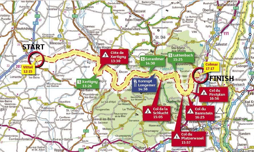 Tour de France 2009, stage 13 map