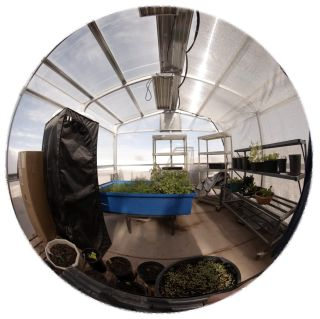 View of the Mars Desert Research Station greenhouse, or GreenHab.
