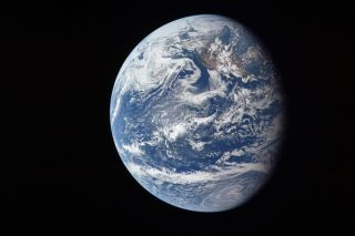 A view of Earth on July 16, 1969