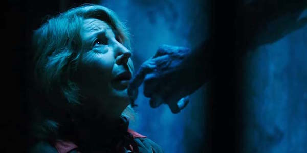 Insidious: The Last Key Lin Shaye's face being turned up by a demon