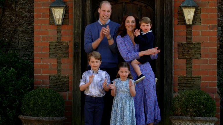 The Duke and Duchess of Cambridge and their family