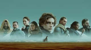 Dune poster featuring Timothee Chalamet and cast