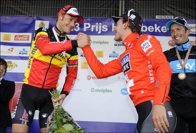 Tom Boonen Fabian Cancellara E3 prijs Harelbeke 2010.jpg