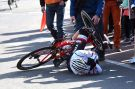 Fabio Felline crashes in the 2016 Amstel Gold Race
