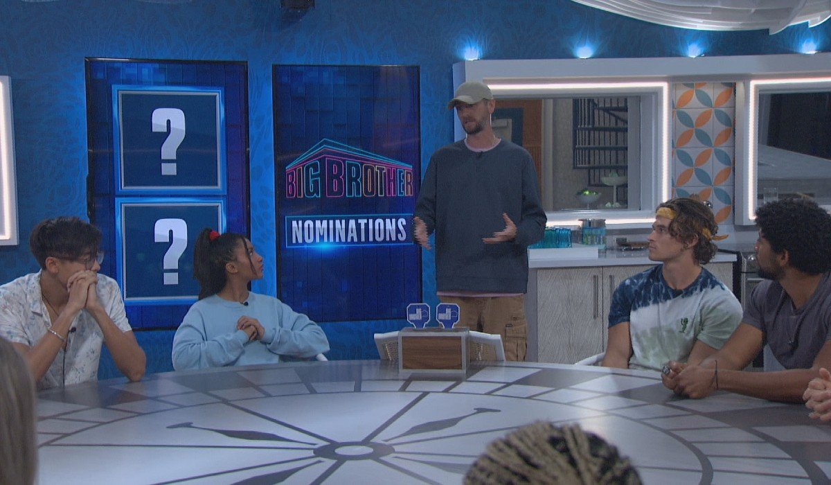 Frenchie announcing his nominations Big Brother CBS