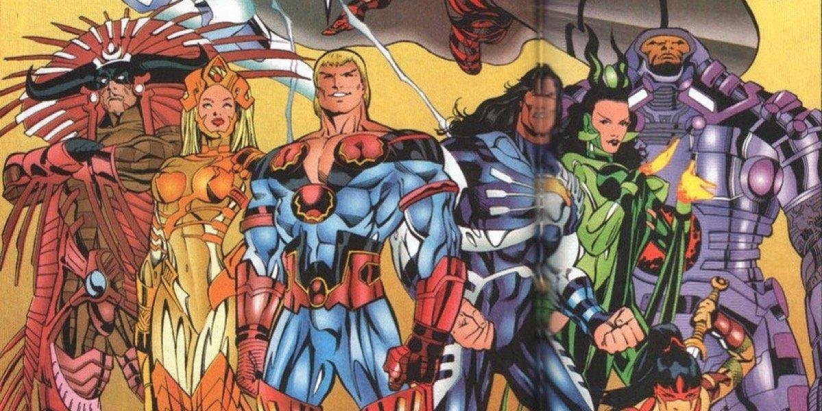 An earlier depiction of Marvel's Eternals