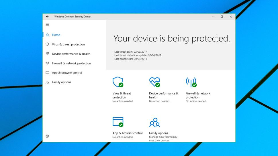 Windows Defender review : Is this free antivirus good enough on its own? | TechRadar