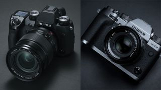 Fujifilm X-H1 and X-T2 mirrorless cameras