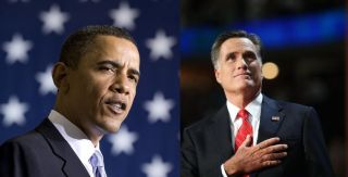 Obama & Romney Composite Image