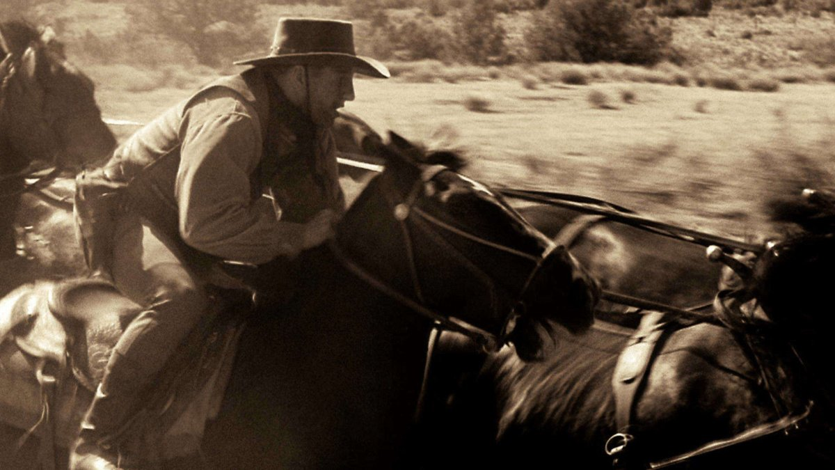 A cowboy charging into battle from True Grit in The Real Story.