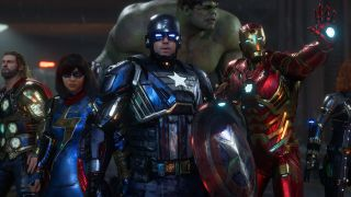 The Avengers all geared up