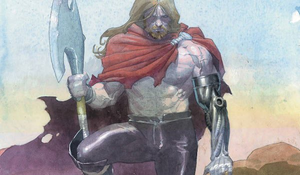 Comic book Thor with prosthetic arm