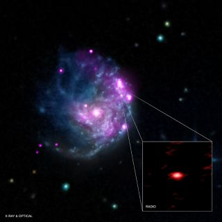 The newly discovered object NGC 2276-3c (shown in inset) appears to be an intermediate-mass black hole, astronomers say.