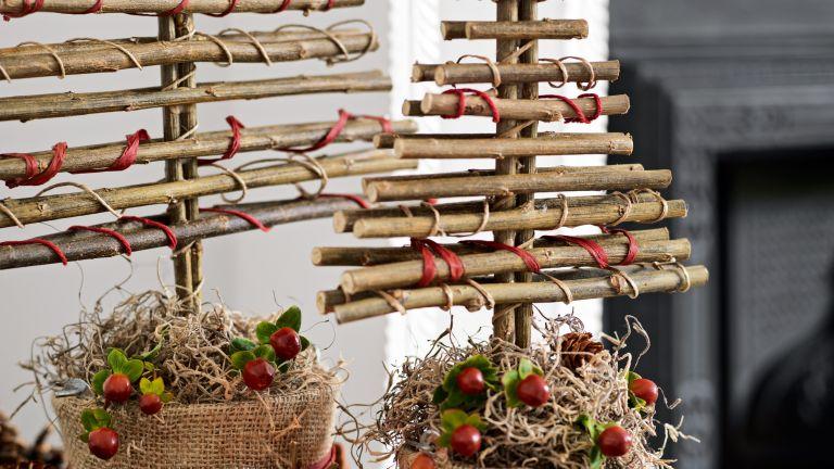 DIY twig Christmas tree project