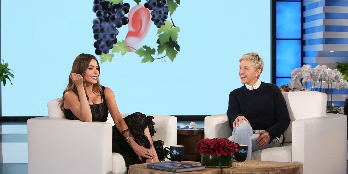 Sofia Vergara and Ellen DeGeneres on The Ellen DeGeneres Show (2015)