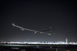 Solar Impulse Plane Lands in St. Louis