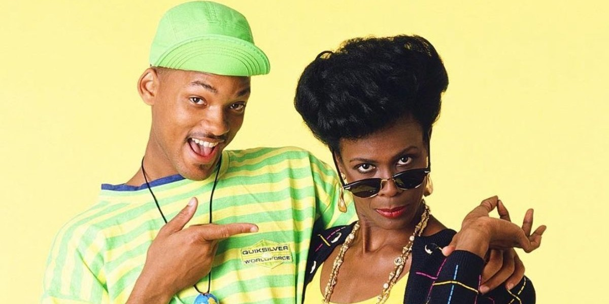 Will Smith as himself and Janet Hubert as Vivian Banks for The Fresh Prince of Bel-Air