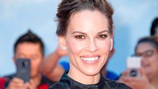 "Hilary Swank, who will star in and executive produce ""Away"" on Netflix, attends the Premiere of 'What They Had' during the Toronto International Film Festival, on September 12, 2018, in Toronto, Ontario, Canada."