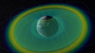 Particles Through Radiation Belts