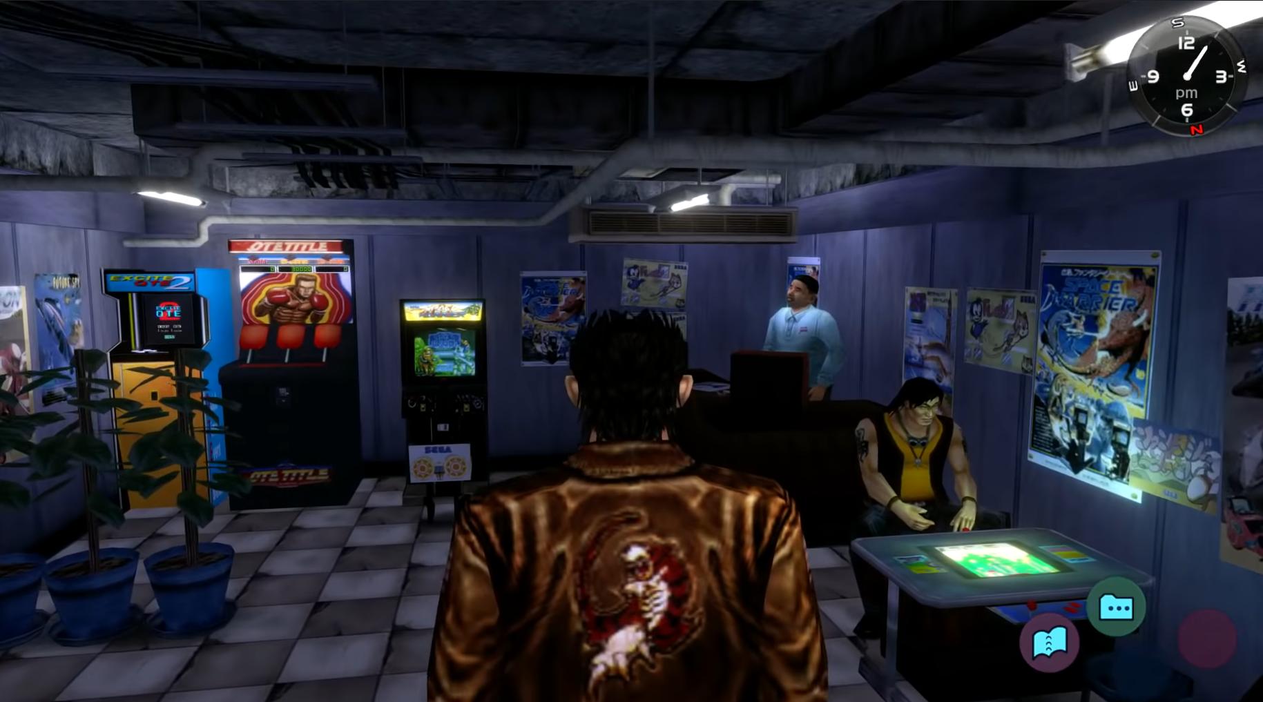 Ryo entering the arcade in Shenmue 1
