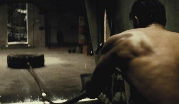Ben Affleck Batman Workout Scene
