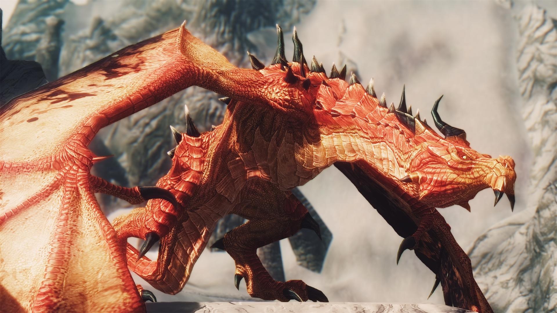 Skyrim Special Edition mod - Diverse Dragons