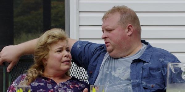 Wanda and Scott in their backyard
