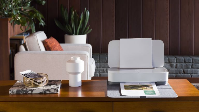 best small printer: Tango X on side table in living area