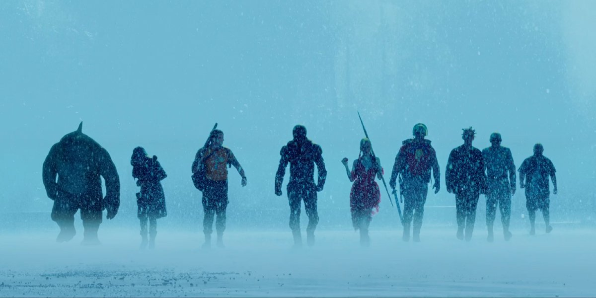 The Suicide Squad cast walks in water