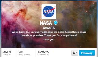 NASA Twitter screen grab
