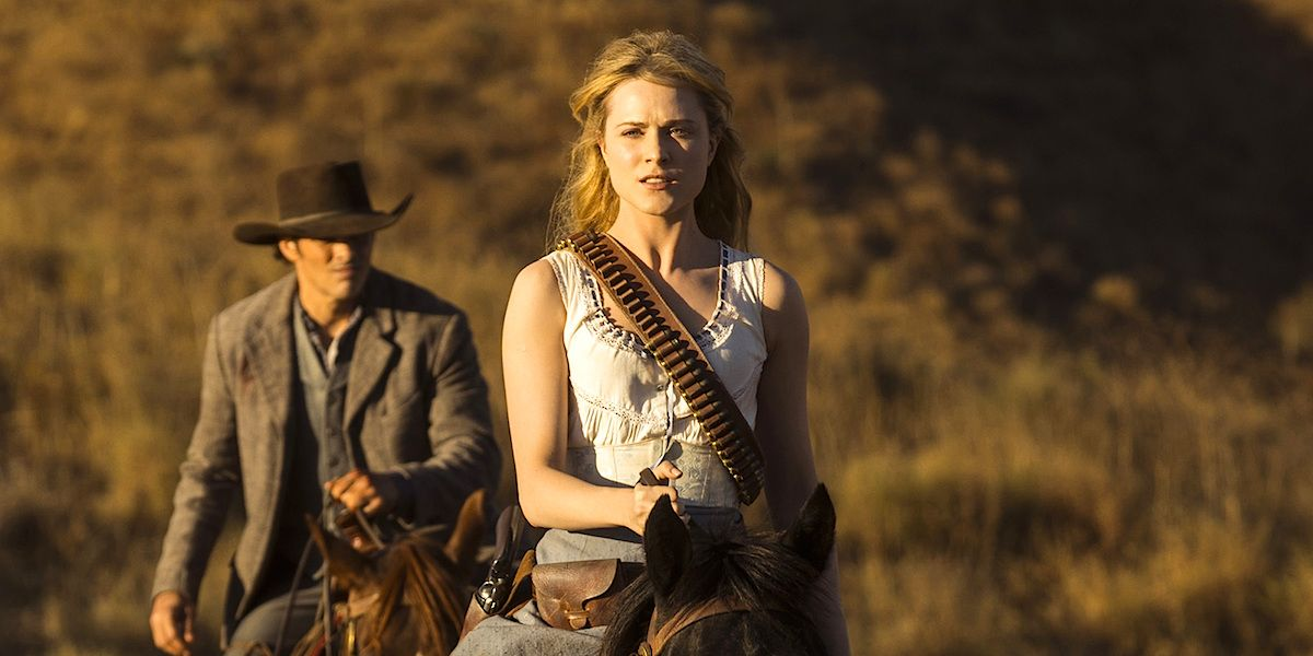 Dolores Abernathy in the HBO show Westworld.