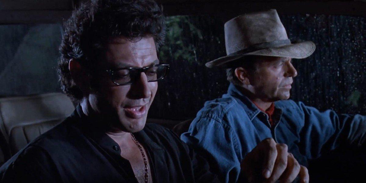 Jeff Goldblum and Sam Neill in Jurassic Park