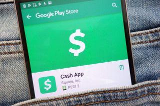 Cash App logo on a smartphone.