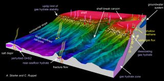 Location of East Coast methane seeps
