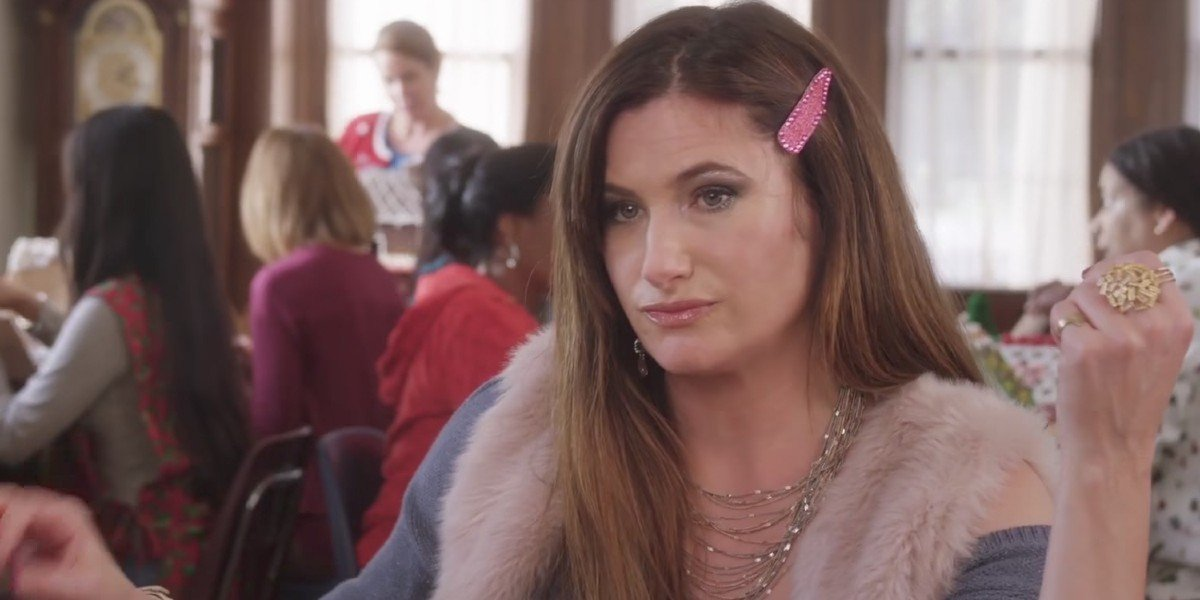 Carla Dunkler (Kathryn Hahn) stares shadily in A Bad Moms Christmas (2017)