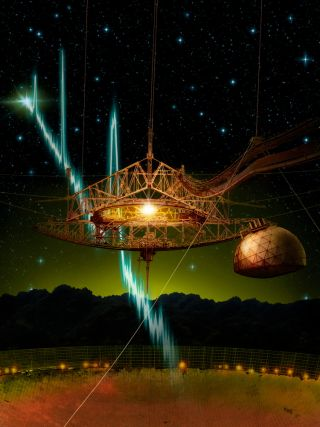 Arecibo Telescope and Fast Radio Bursts