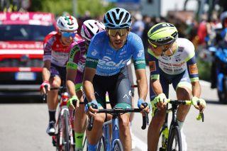 Samuele Rivi (Eolo-Kometa Cycling Team) in the breakaway on stage 10 at the Giro d'Italia