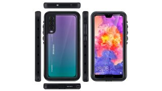 Front, back and side views of the Mishcdea Waterproof Case for Huawei P20 Pro