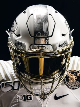 Purdue's Astronaut Alums Inspire Football Team's Moonwalk Helmets